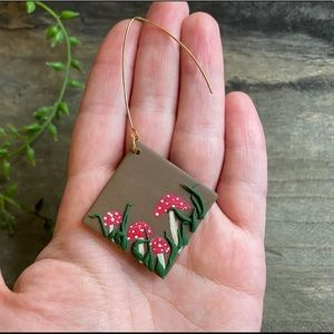 Hand Crafted Jewelry - Hand crafted Mushroom polymer clay earrings